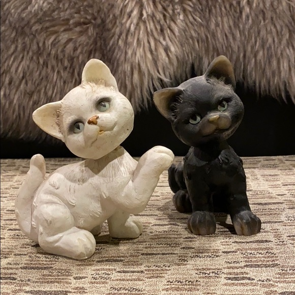 Vintage Bobble Head Cat Pair